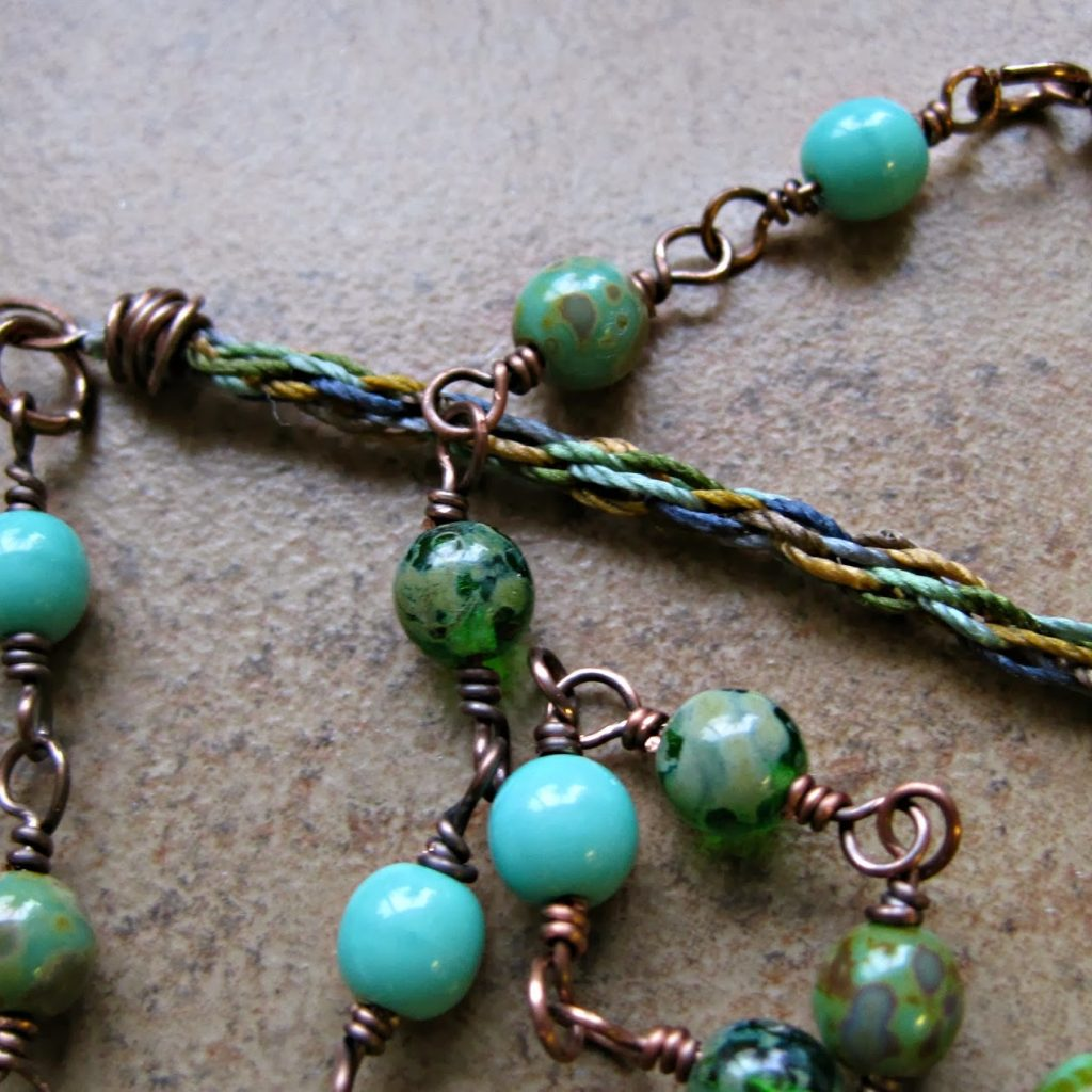 Tutorial wire wrapping kumihimo ends rerun this tutorial is really similar to any wire wrapping you would do with ball chain rhinestone chain or any material that doesnt have a clear and viable baditri Choice Image