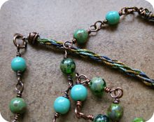 Tutorial – Wire Wrapping Kumihimo Ends – Rerun!