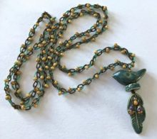 Bird on the Wing Pendant with Embellished Chain – Free Tutorial