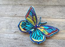 Colourful fabric and embroidery – small project idea